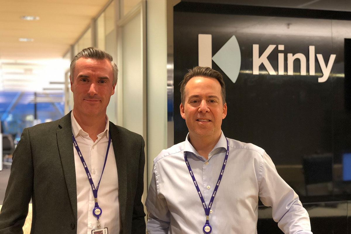 Fra venstre, Tom Martin med vår nye kollega Per Kristian Jorsett