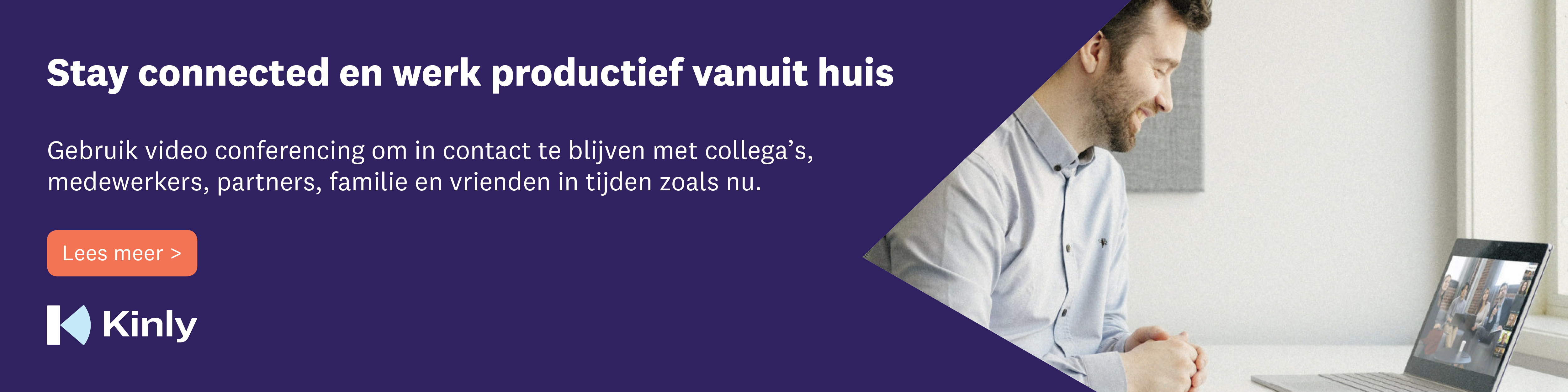 Stay connected banner NL