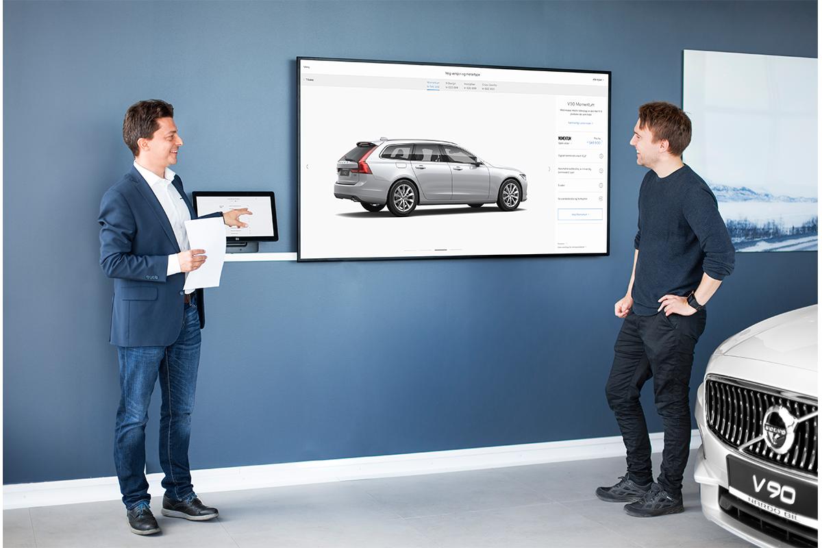 Volvo video skjerm
