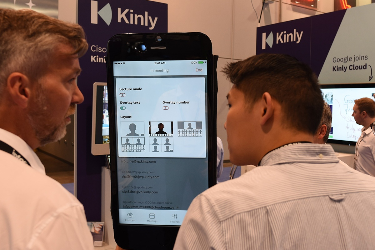 Kinly demos its Meeting Assistant app at InfoComm 18