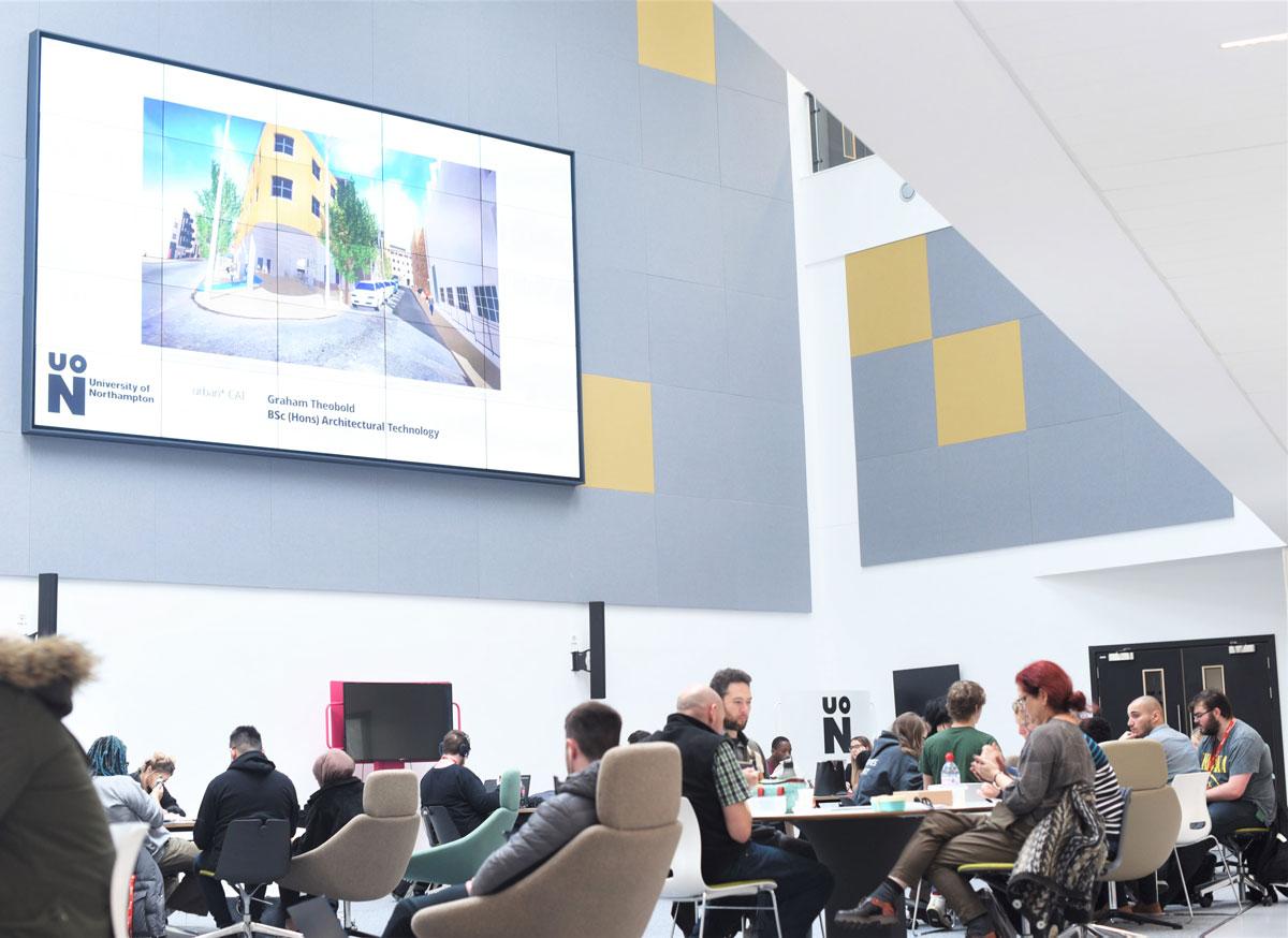 Waterside-campus verbeterd studenten hun ervaring door middel van technologie